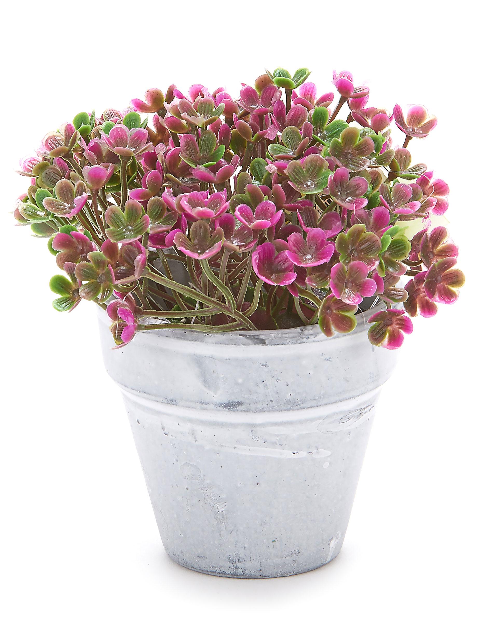 petit pot fleurs artificielles fuchsia d coration anniversaire et f tes th me sur vegaoo party. Black Bedroom Furniture Sets. Home Design Ideas