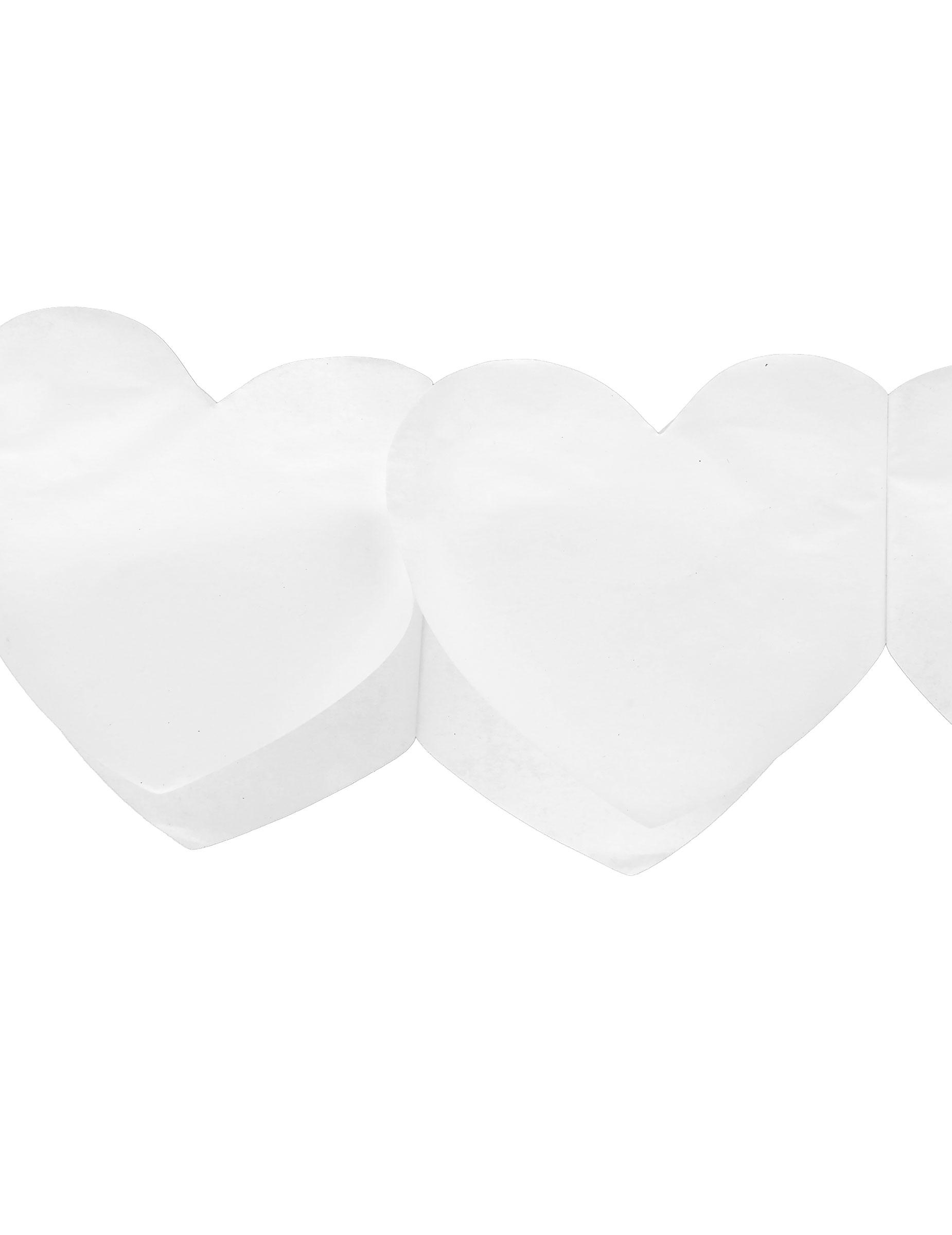 guirlande papier coeur plein blanc d coration anniversaire et f tes th me sur vegaoo party. Black Bedroom Furniture Sets. Home Design Ideas