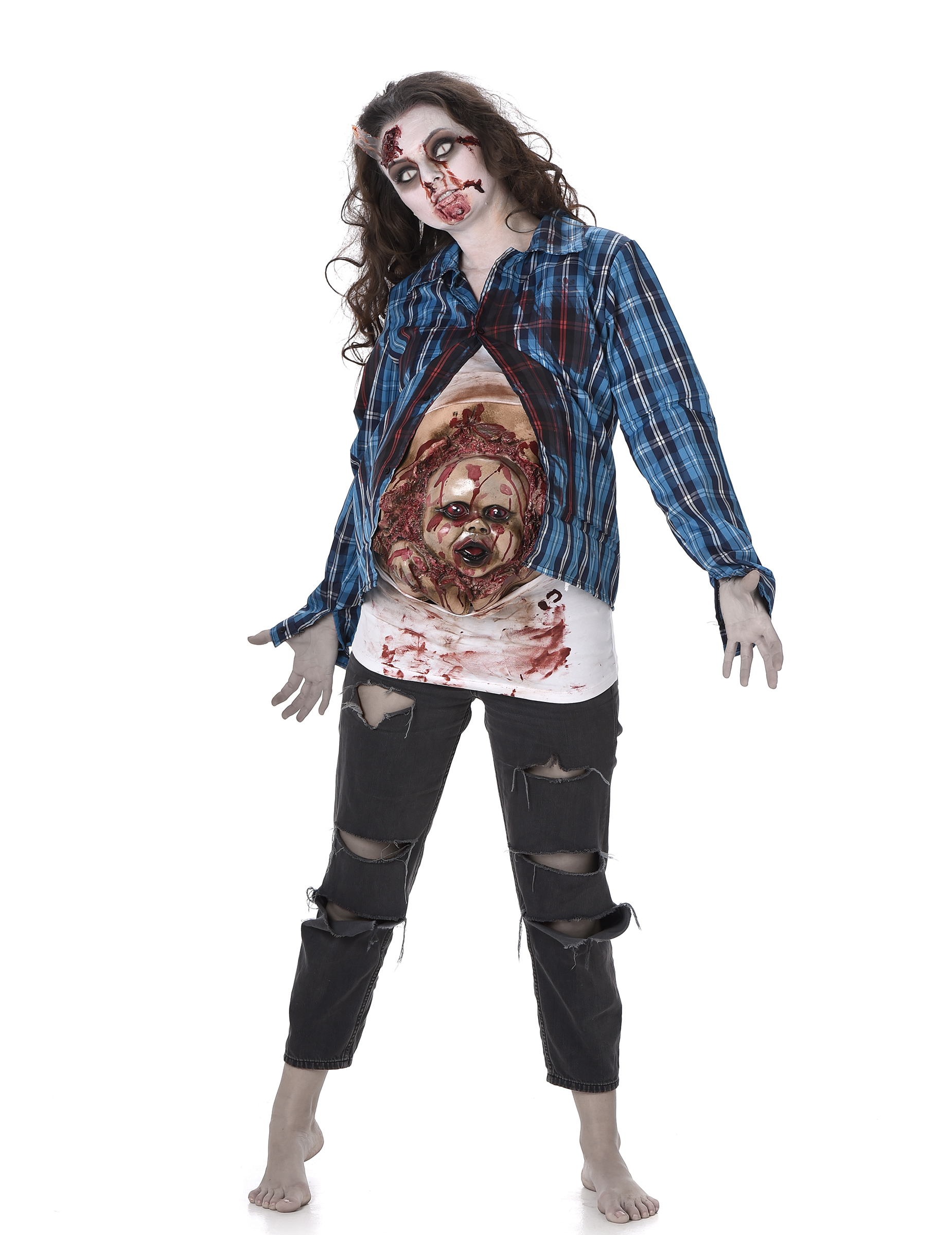 d guisement zombie b b en latex femme halloween d coration anniversaire et f tes th me sur. Black Bedroom Furniture Sets. Home Design Ideas