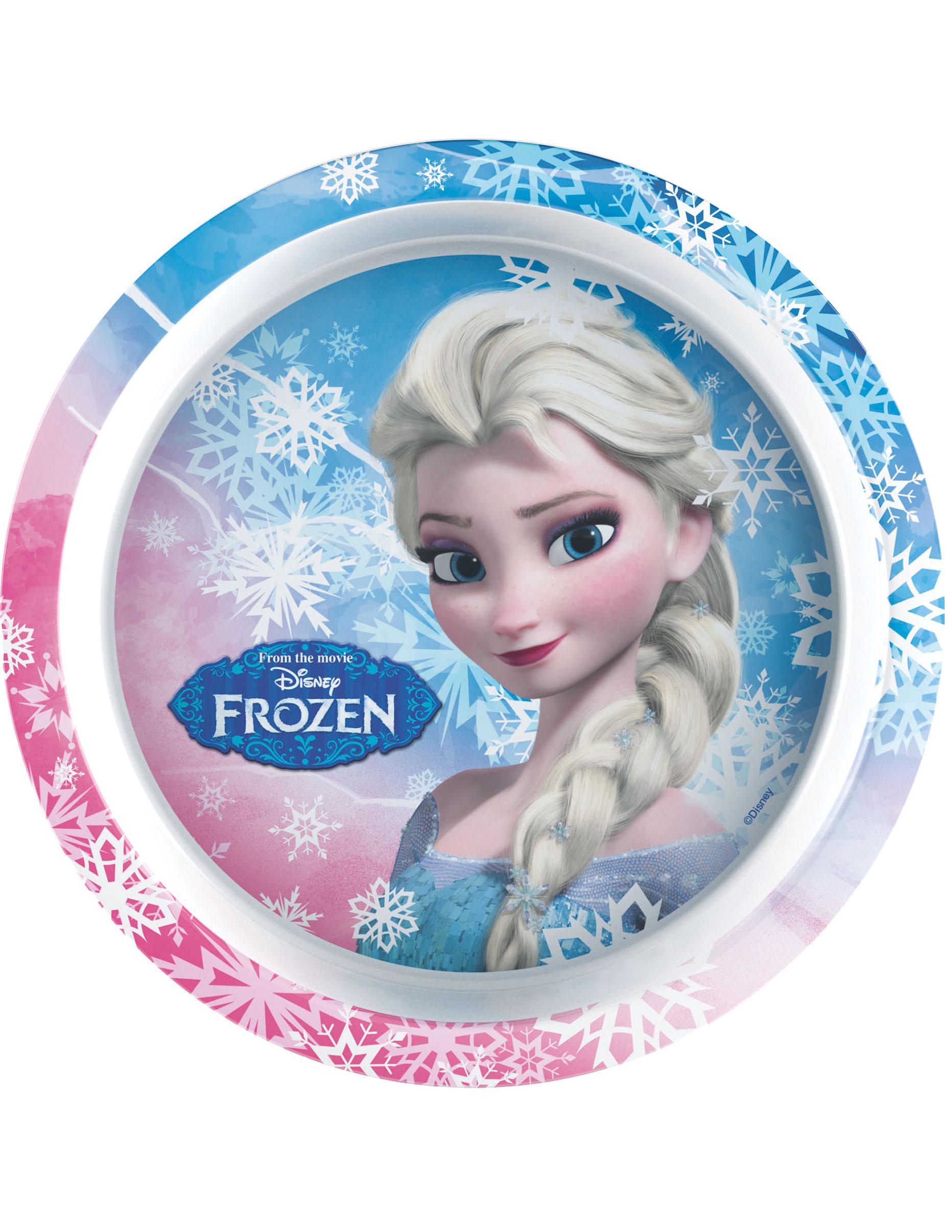 assiette en plastique la reine des neiges 21 cm d coration anniversaire et f tes th me sur. Black Bedroom Furniture Sets. Home Design Ideas
