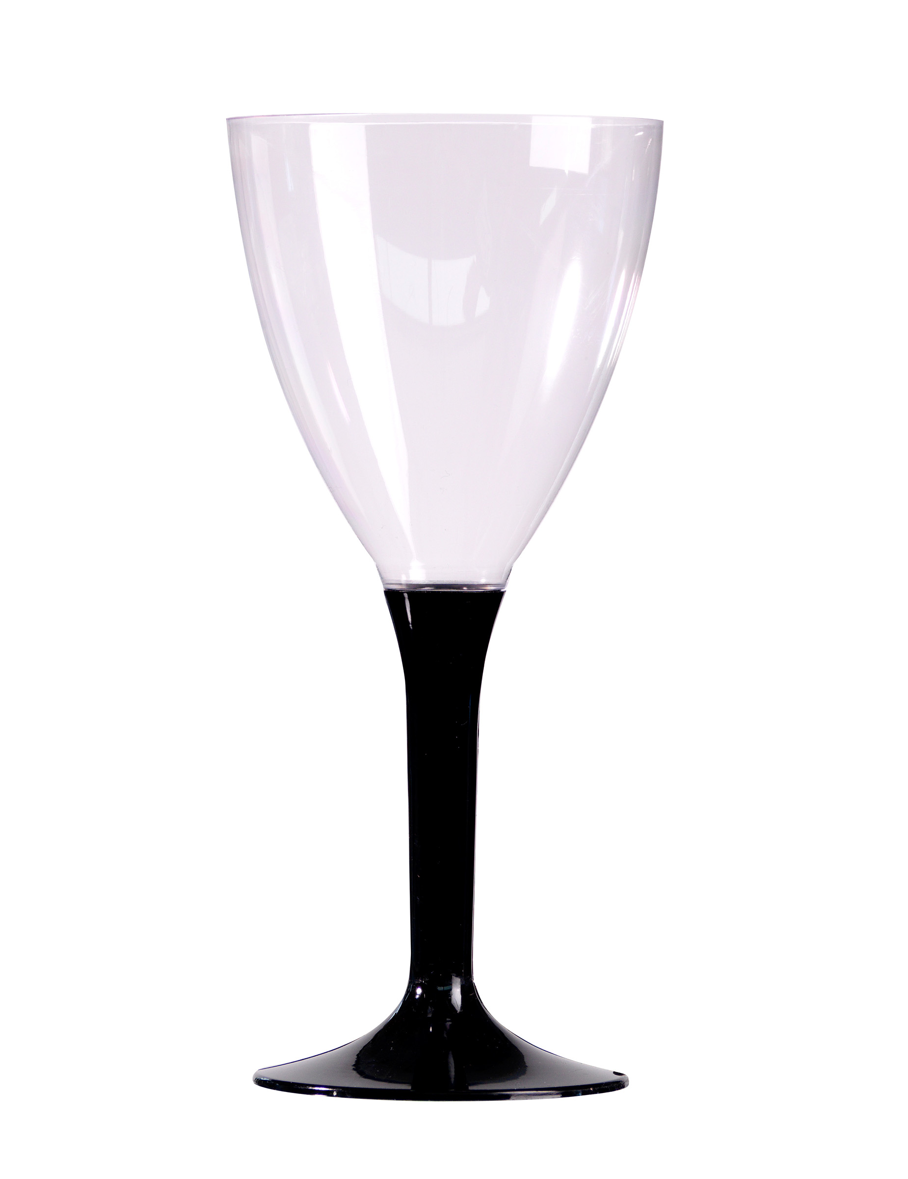 10 verres a vin pied noir en plastique d coration anniversaire et f tes th me sur vegaoo party. Black Bedroom Furniture Sets. Home Design Ideas