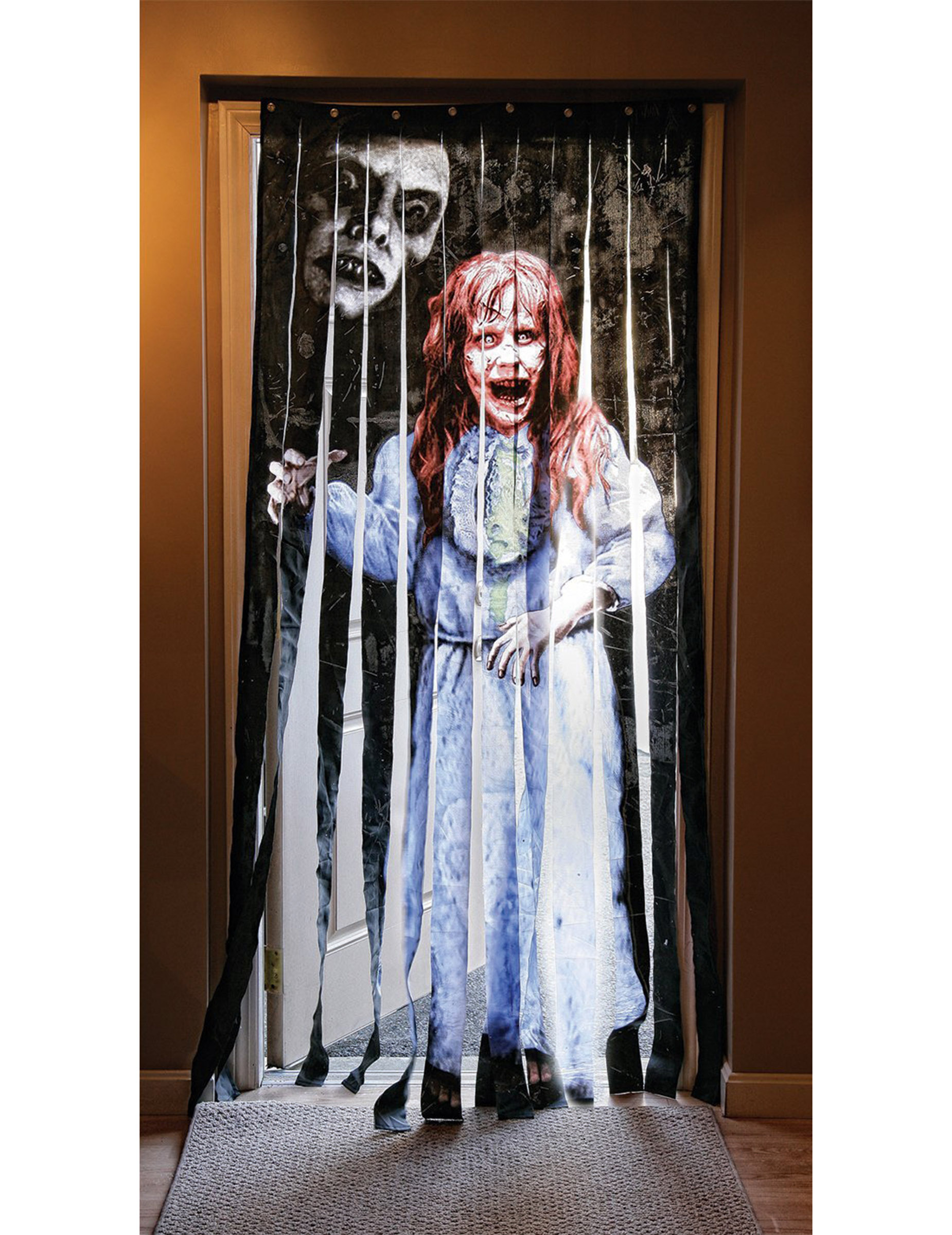 Rideau de porte exorciste halloween d coration - Decoration de porte halloween ...