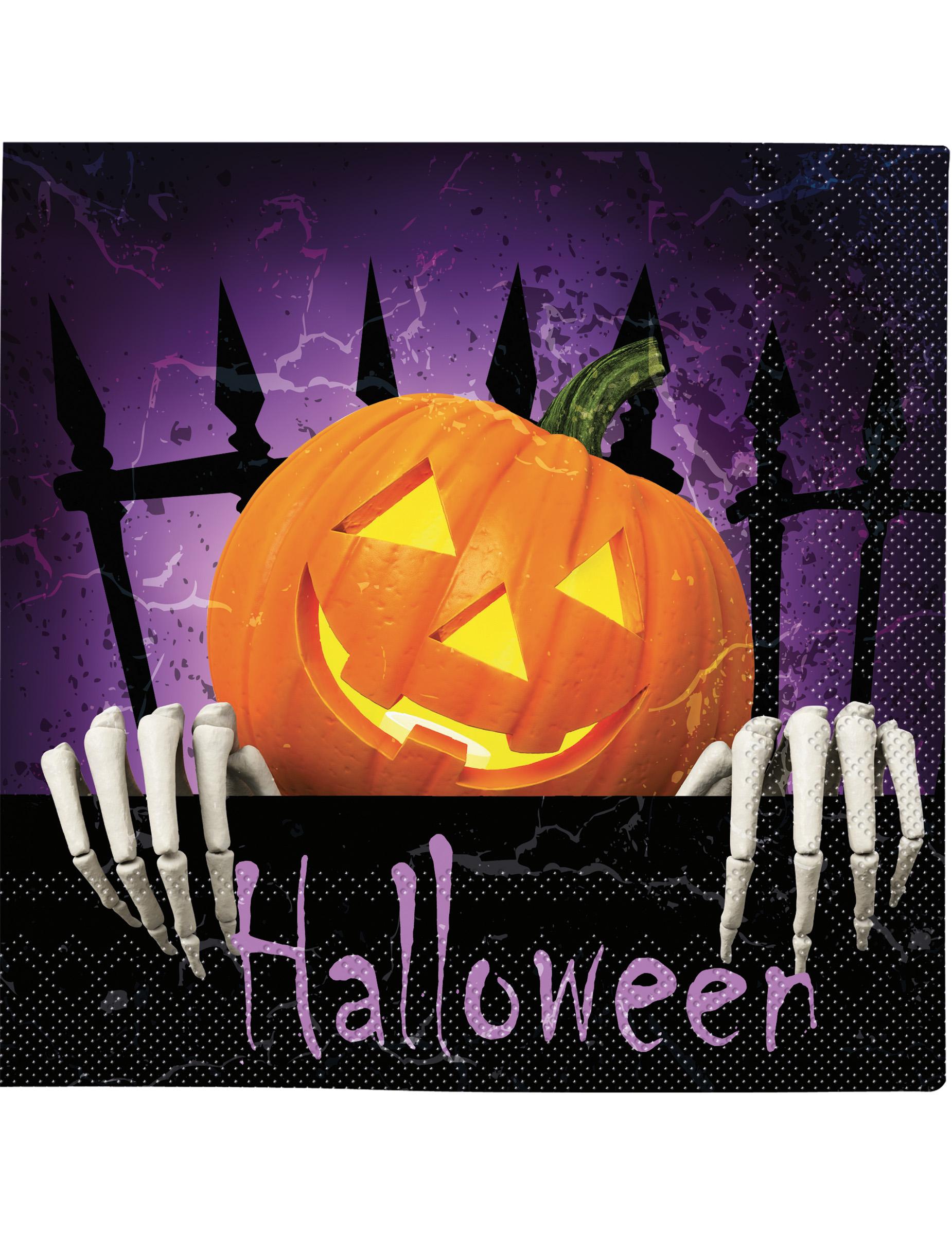 20 serviettes en papier citrouille halloween d coration anniversaire et f tes th me sur - Citrouille halloween en papier ...