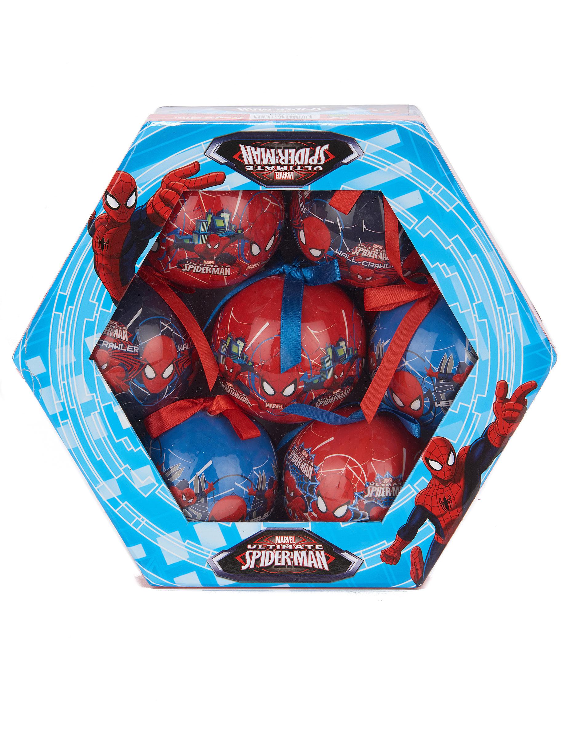 7 boules spiderman 7 5 cm no l d coration anniversaire - Decoration spiderman pour anniversaire ...