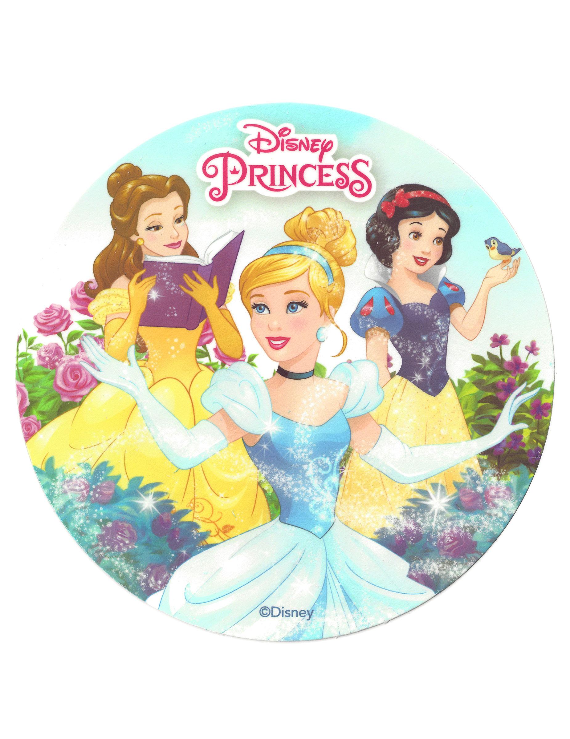 disque azyme princesses disney 20 cm d coration. Black Bedroom Furniture Sets. Home Design Ideas