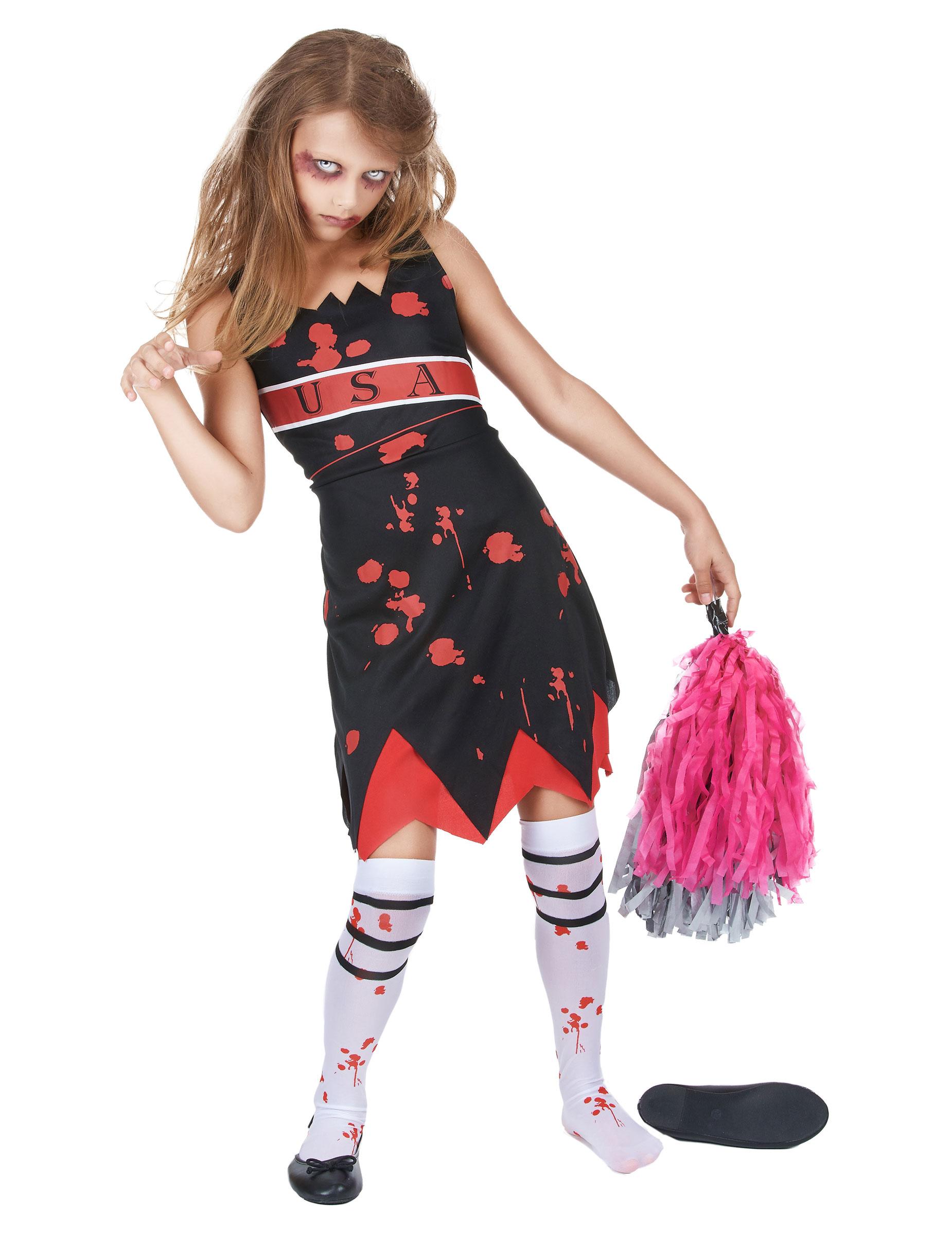 d guisement pompom girl zombie fille halloween d coration anniversaire et f tes th me sur. Black Bedroom Furniture Sets. Home Design Ideas