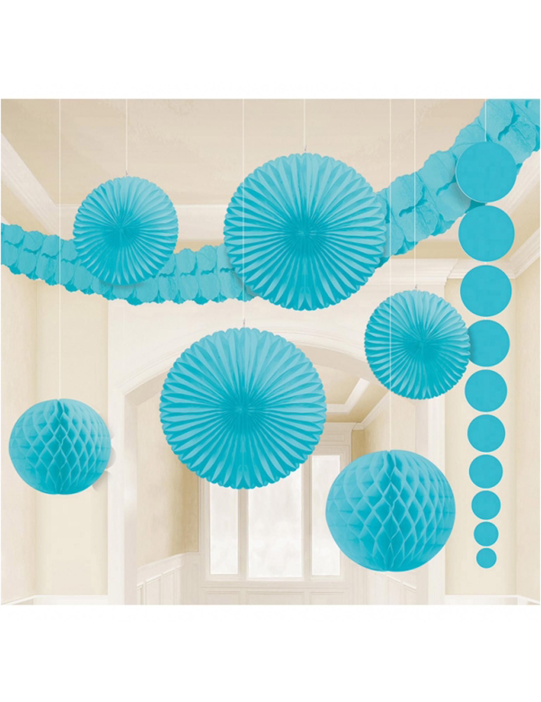 Kit de d corations bleu turquoise d coration anniversaire for Decoration bleu turquoise