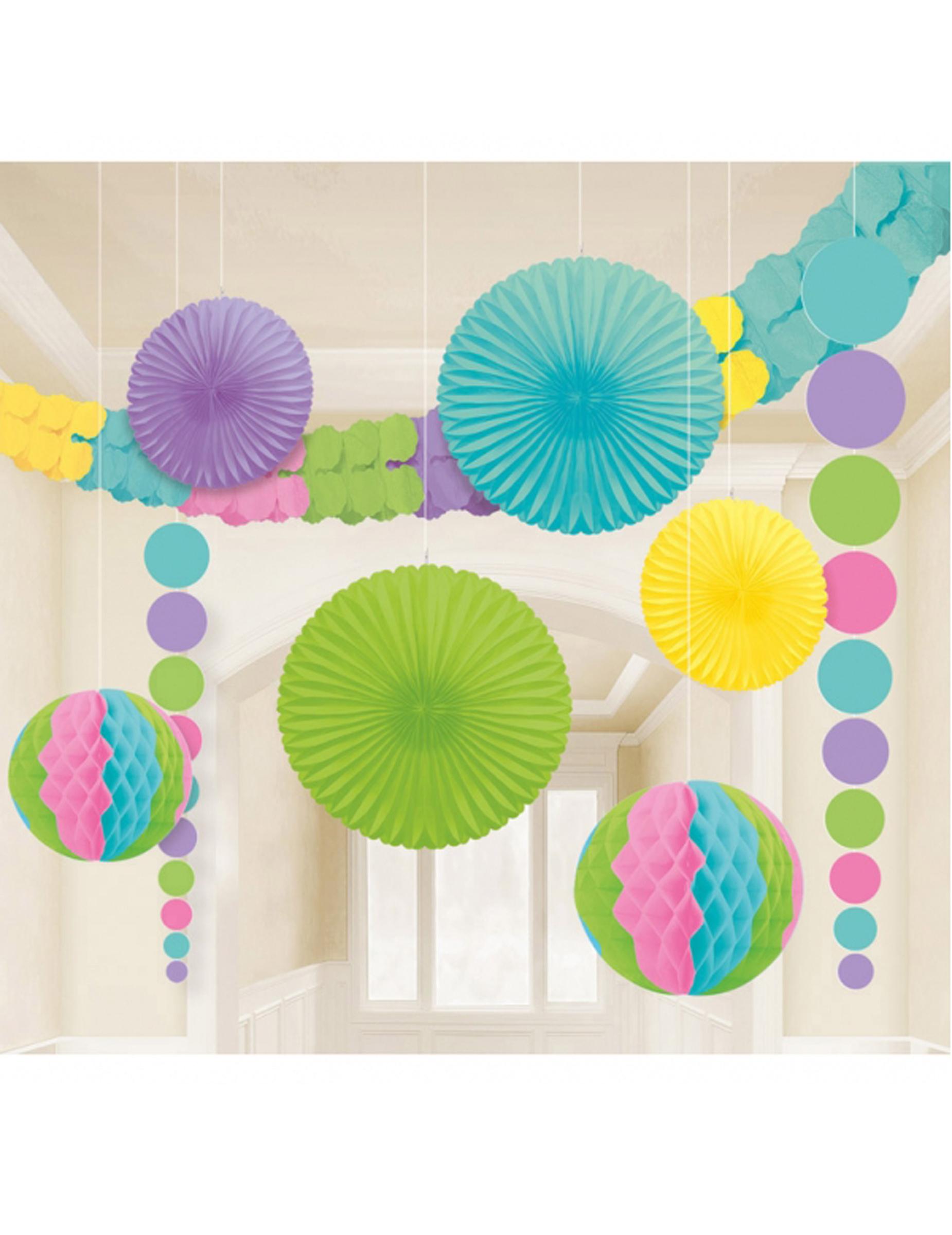 kit de 9 d corations pastel d coration anniversaire et f tes th me sur vegaoo party. Black Bedroom Furniture Sets. Home Design Ideas