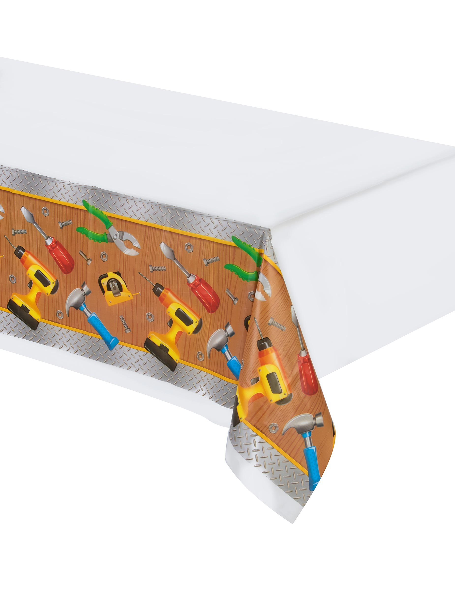 nappe en plastique bricoleur 137 x 259 cm d coration anniversaire et f tes th me sur vegaoo party. Black Bedroom Furniture Sets. Home Design Ideas