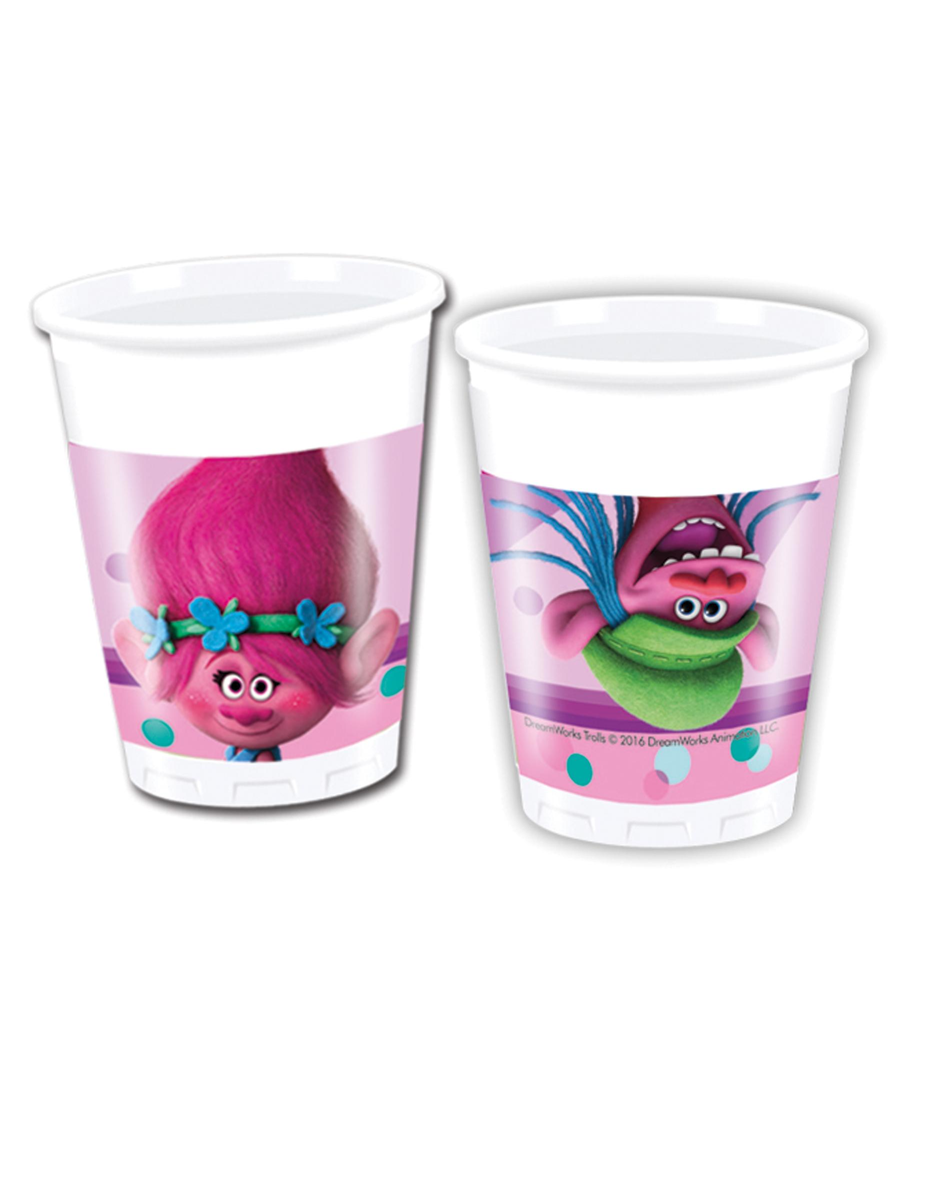 8 gobelets en plastique trolls 20 cl d coration anniversaire et f tes th me sur vegaoo party - Decoration gobelet plastique ...