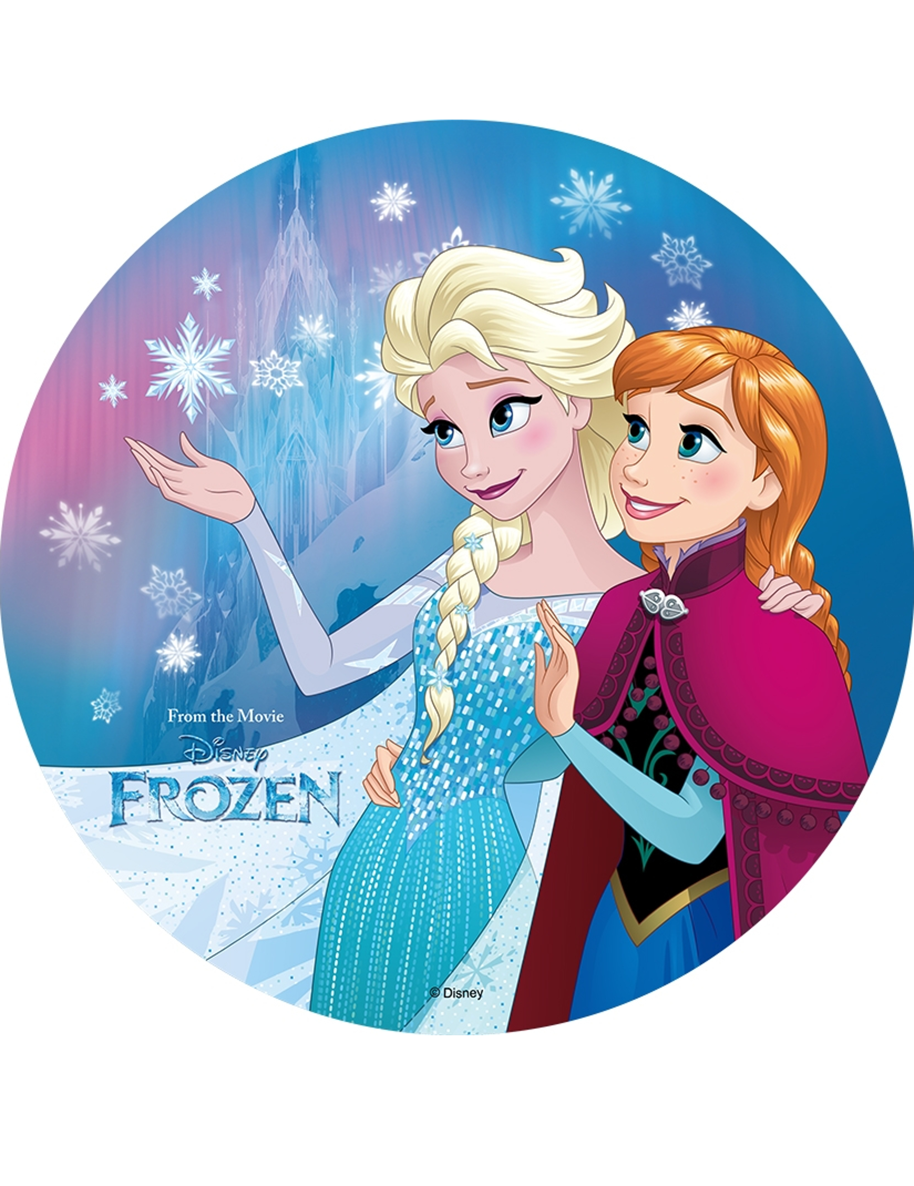 Disque azyme la reine des neiges 20 cm d coration - Veilleuse la reine des neiges ...