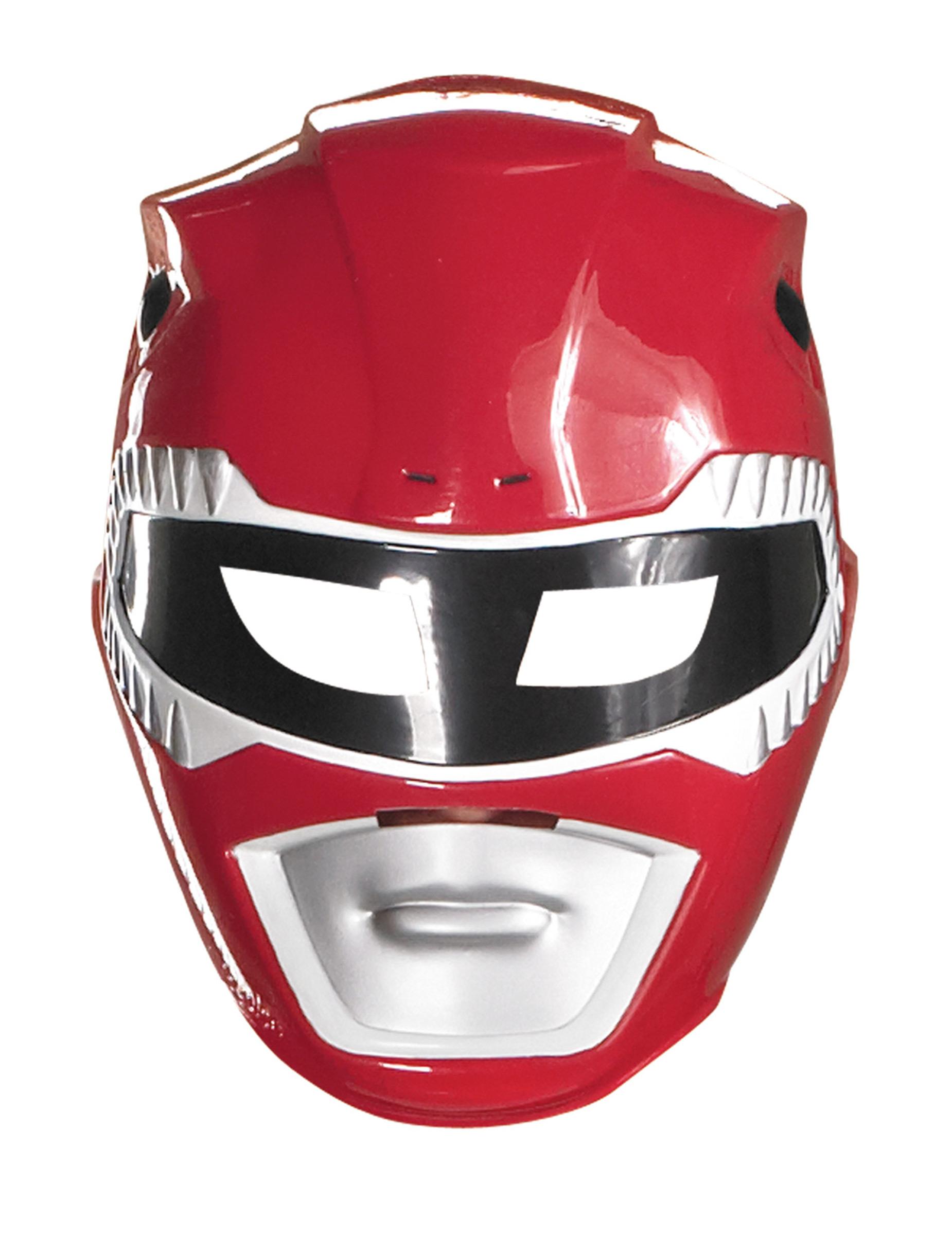 Masque Power Rangers™ rouge enfant, décoration