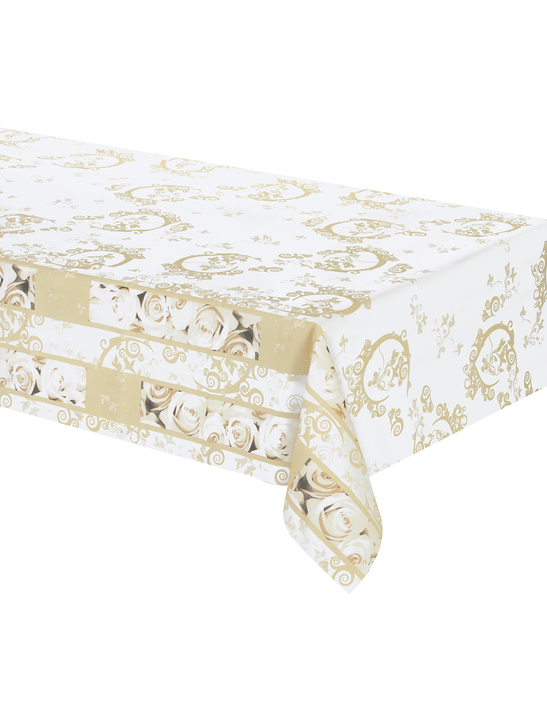 nappe en intiss roses blanches 120 x 180 cm d coration anniversaire et f tes th me sur. Black Bedroom Furniture Sets. Home Design Ideas