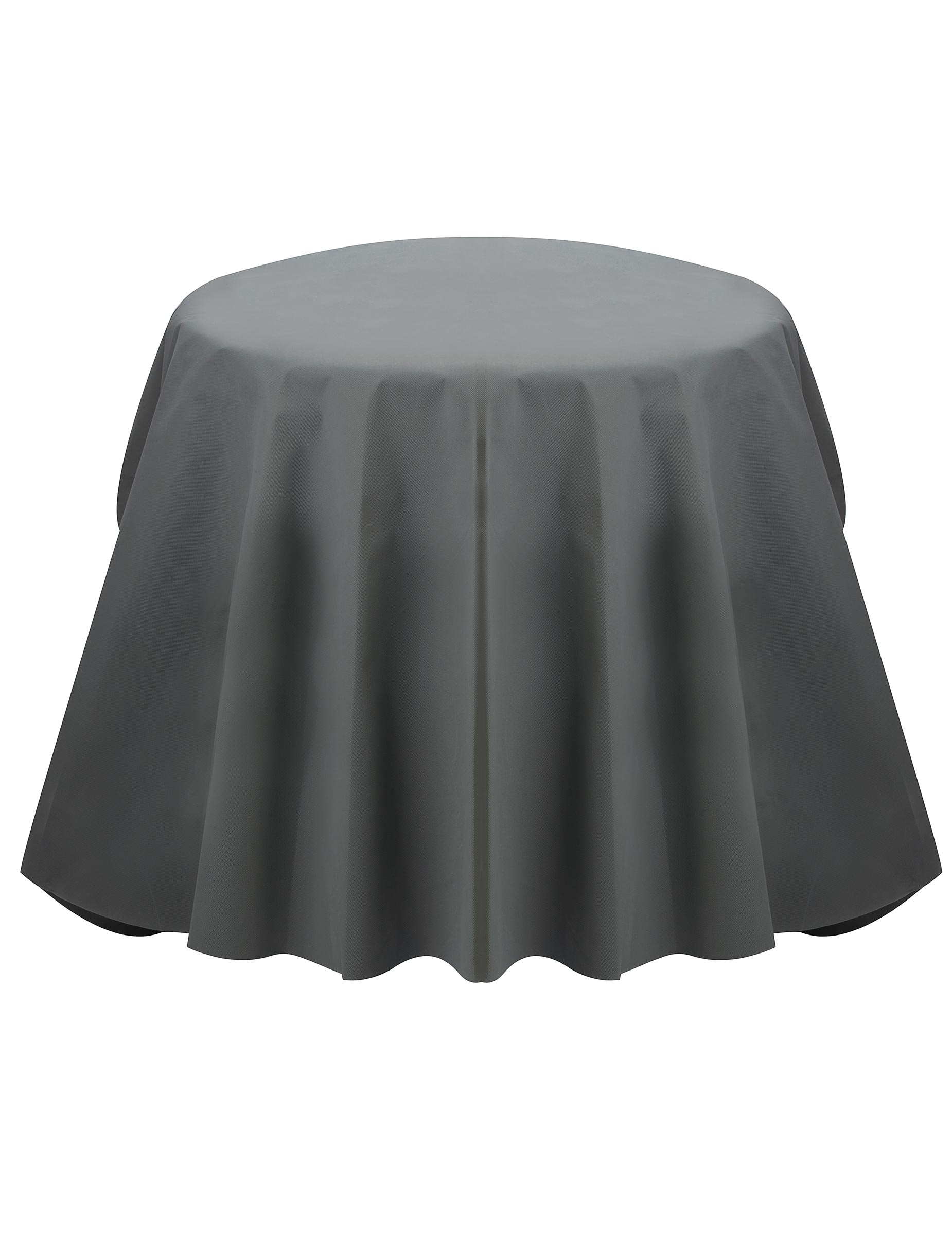 nappe ronde grise opaque d coration anniversaire et f tes th me sur vegaoo party. Black Bedroom Furniture Sets. Home Design Ideas
