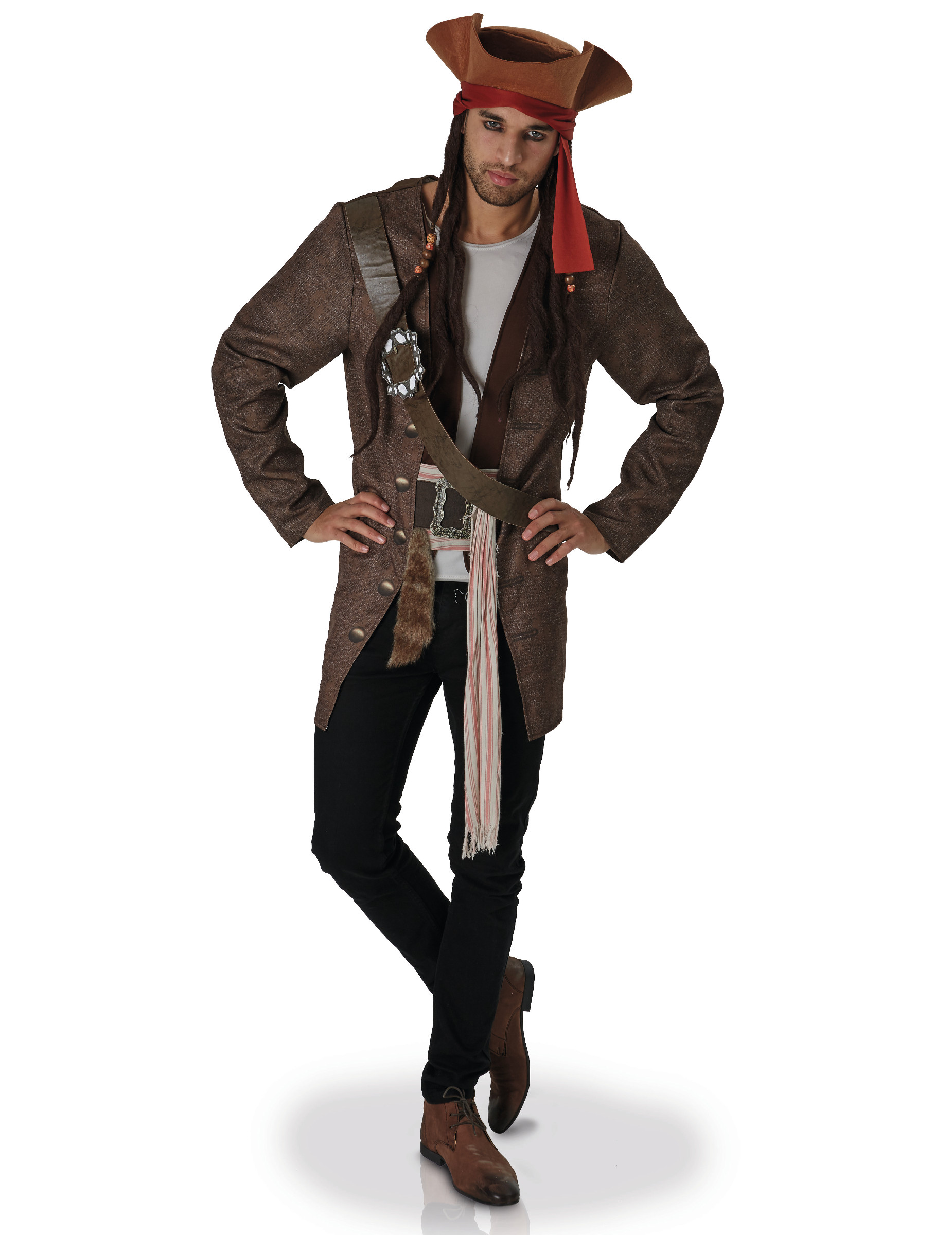 D Guisement Jack Sparrow Pirates Des Cara Bes Adulte D Coration