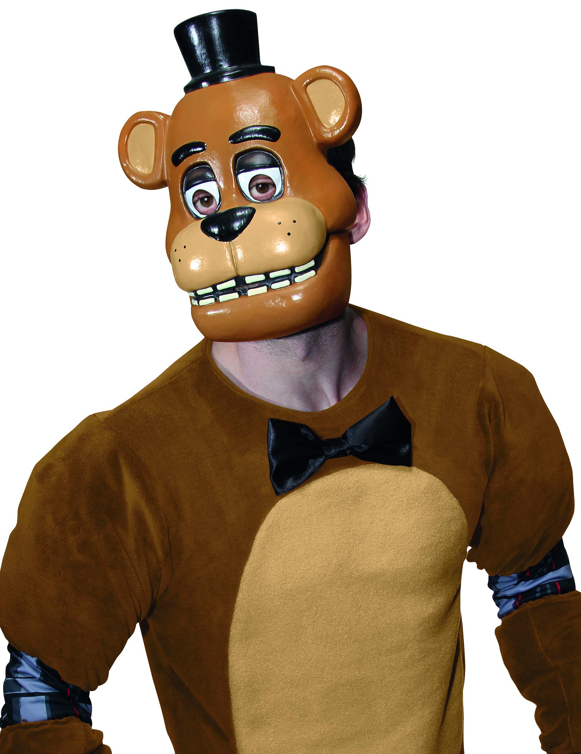 Demi Masque En Plastique Freddy Jeu Vidéo Five Nights At Freddys Adulte Décoration Anniversaire Et Fêtes à Thème Sur Vegaoo Party
