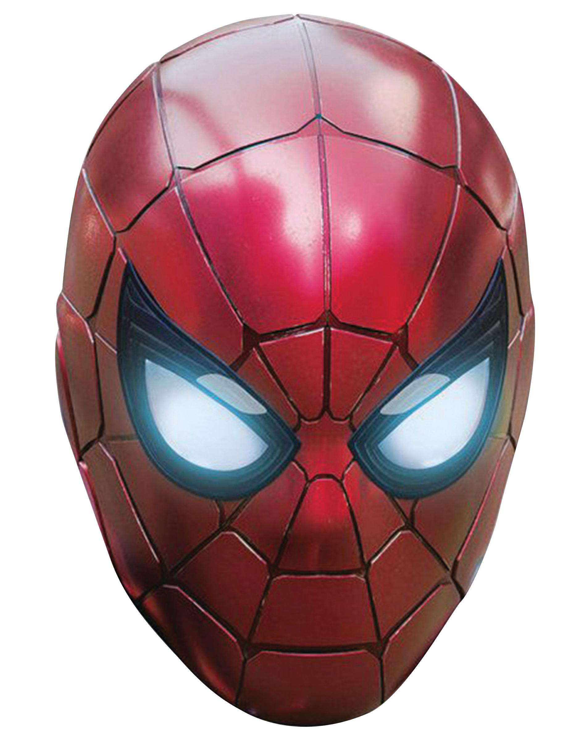 Masque en carton iron spider avengers infinity war adulte - Masque iron man adulte ...