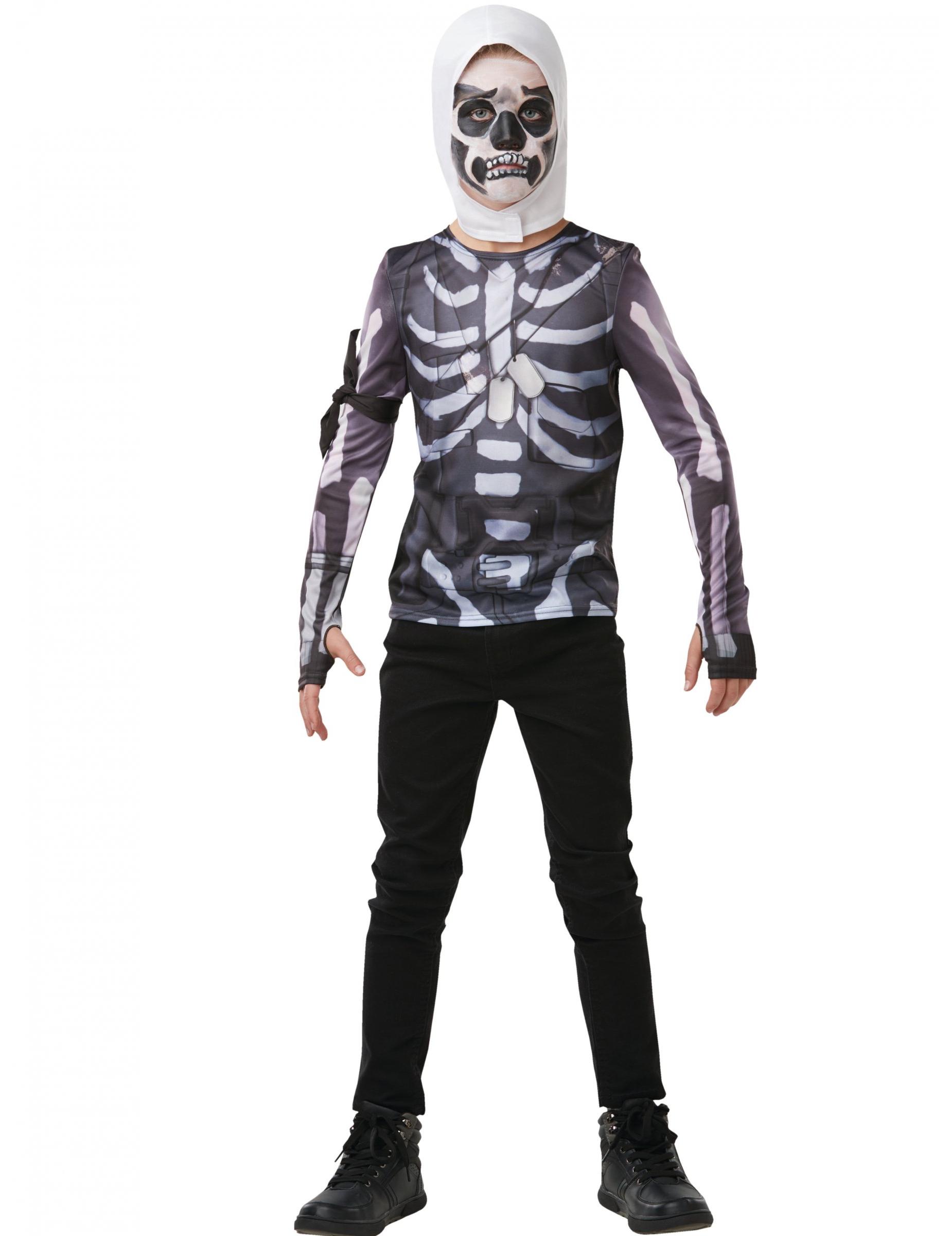 T Shirt Et Cagoule Skull Trooper Fortnite Adolescent Decoration