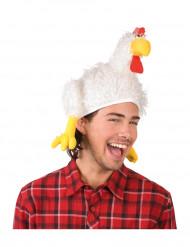Chapeau de coq blanc adulte