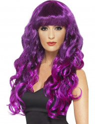Perruque sirène bouclée violette femme