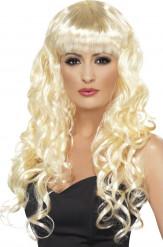 Perruque sirène bouclée blonde femme