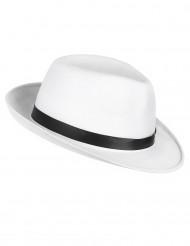 Chapeau gangster blanc adulte