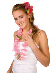 Collier Hawaï rose
