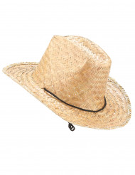 Chapeau paille Dallas Bull adulte