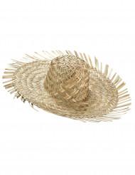Chapeau de paille Hawaï adulte