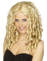 Perruque bouclée blonde femme