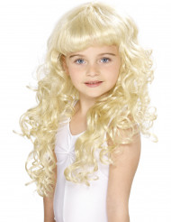 Perruque blonde de princesse fille