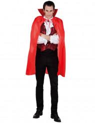 Cape vampire rouge homme 120 cm Halloween