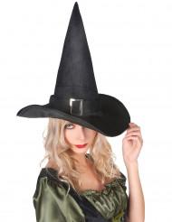 Chapeau sorcière velours halloween adulte