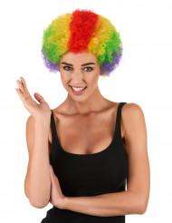 Perruque afro/ clown multicolore standard adulte