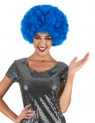 Perruque afro bleue adulte