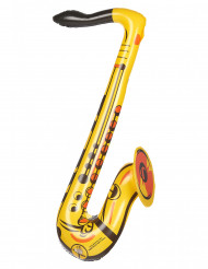 Saxophone gonflable jaune