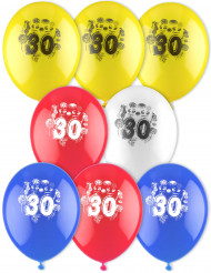 8 Ballons d'anniversaire 30 ans