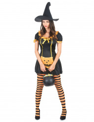 Déguisement sorcière citrouille femme Halloween