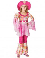 Déguisement hippie rose fille