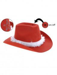 Chapeau de cowboy Noël adulte