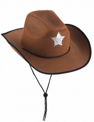 Chapeau sheriff marron enfant
