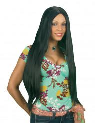 Perruque noire extra longue  femme