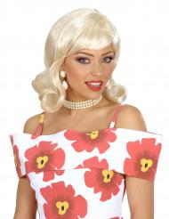 Perruque blonde année 50's femme