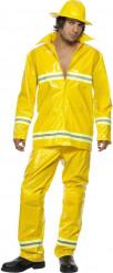 Déguisement pompier jaune homme
