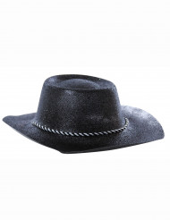 Chapeau cowgirl noir à paillettes adulte