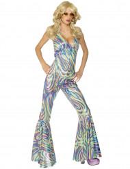 Déguisement disco caméléon femme