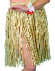Jupe hawaïenne courte naturelle femme
