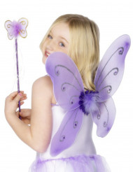 Kit papillon violet fille