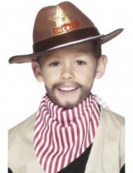 Chapeau shérif marron garçon