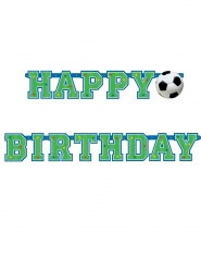 Bannière happy birthday football